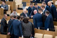 Överläggningar i samband med torsdagens omröstning i det ryska underhuset duman.