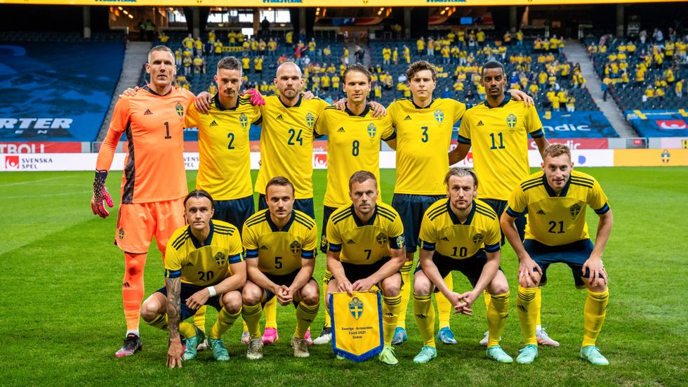 Svenska startelvan mot Armenien i EM-genrepet. Blir det samma spelare mot Spanien?