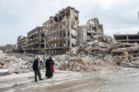 Östra Aleppo. En stad i ruiner.