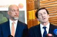 Swedbanks tillförordnande vd Anders Karlsson och styrelseordförande Lars Idermark.