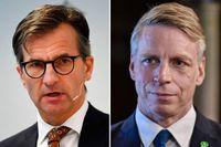 Erik Thedéen, generaldirektör för Finansinspektionen och Per Bolund, finansmarknadsminister.