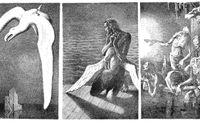 """Nyutgivningen av """"Balladen om den gamle sjömannen"""" innehåller Mervyn Peakes suggestiva bilder från 1943."""