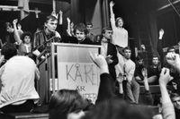 Studenterna ockuperade Kårhuset vid Stockholms universitet i maj 1968.