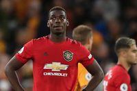 Manchester Uniteds Paul Pogba i måndagens 1–1-match mot Wolverhampton där han missade en avgörande straff.