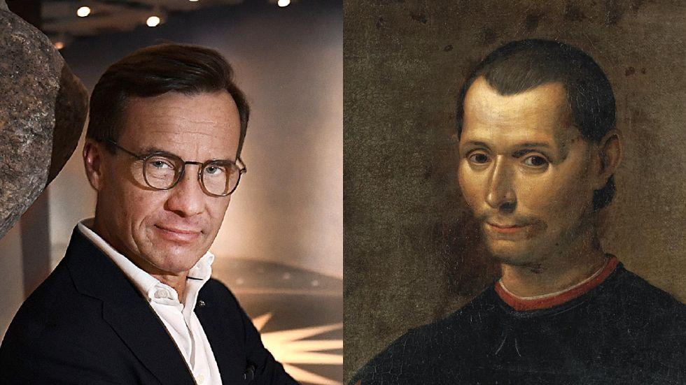 Ulf Kristersson och Niccolò Machiavelli.