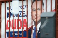 Bild från i onsdags då beskedet kom att det polska presidentvalet skjuts på obestämd framtid.