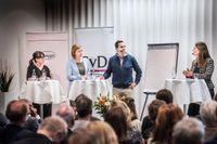 Cecilia Nyqvist, Elisabeth Thand Ringqvist samt Truecallers grundare Alan Mamedi. Diskussionen leddes av SvD:s moderator Louise Andren Meiton.