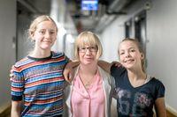 Anna och Paulina, båda 13 år, är stora fan av Kristina Ohlssons böcker.