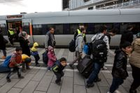 Migranter under migrationskrisen 2015.