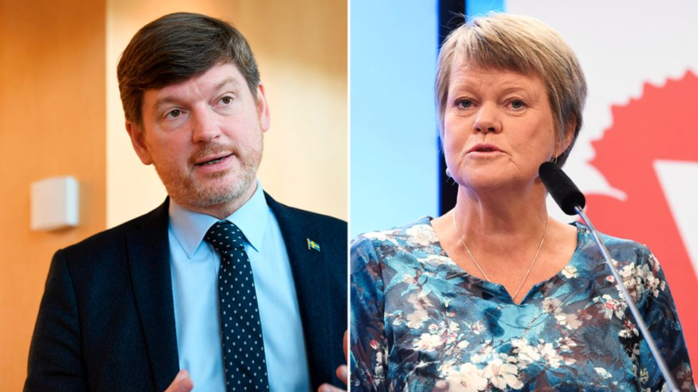 Martin Ådahl (C) och Ulla Andersson (V).