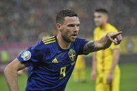 Marcus Berg, här i det svenska fotbollslandslaget, sköt sitt Krasnodar till Champions League-kval i den sista omgången av den ryska ligan. Arkivbild.