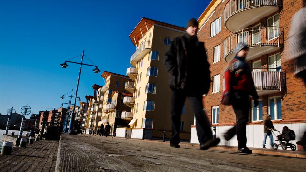 Strandpromenaden vid Eriksberg på Hisingen. Arkivbild.