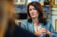 Utrikesminister Ann Linde (S) fotograferad på utrikesdepartementet i Stockholm i förra veckan.