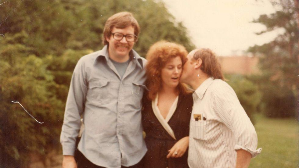 Carl och Ellendea Proffer tillsammans med Joseph Brodsky i Ann Arbor, 1972.