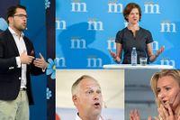 Fyra partiledare som inte hade något att säga om klimatfrågan, enligt artikelförfattaren.