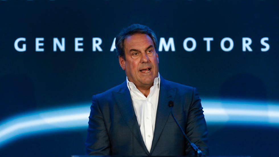 General Motors vd Mark Reuss. Arkivbild.