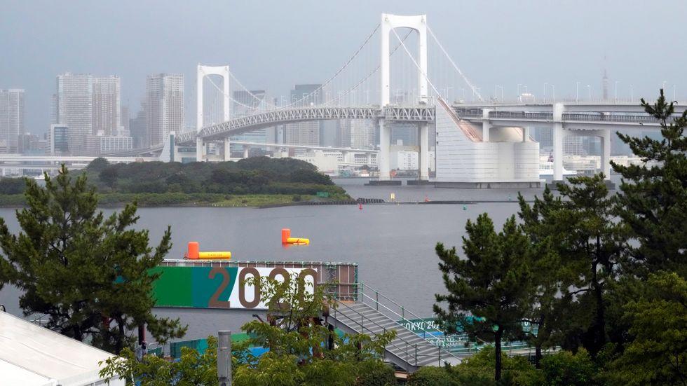 Maratonsimningen, där sträckan är 10 kilometer, avgjordes i Odaibas marina park i Tokyo.