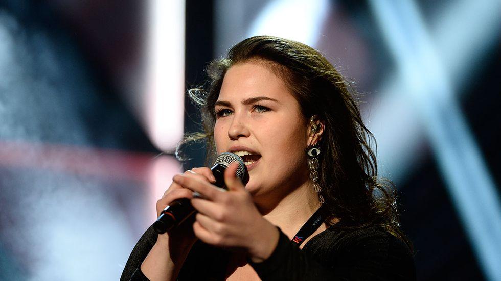 Molly Pettersson Hammar repeterar inför den andra deltävlingen av Melodifestivalen i Malmö.