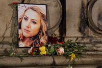 Minnesplats för journalisten Viktoria Marinova i den bulgariska staden Ruse där hon mördades i helgen.
