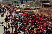 Protestmarsch i Johannesburg.