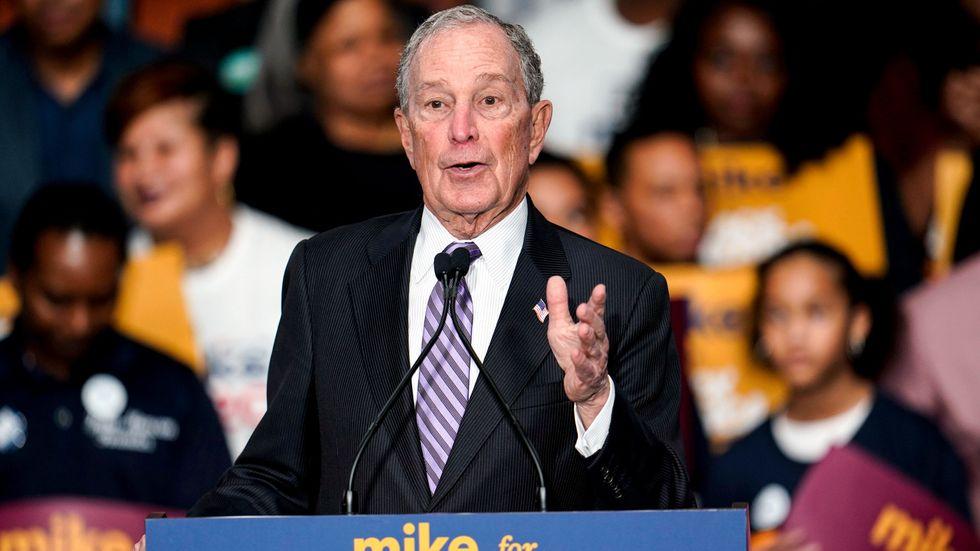 "Mike Bloomberg kampanjade i Texas under vinjetten ""Mike for Black America""."