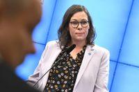 Moderaterna med Maria Malmer Stenergard, migrationspolitisk talesperson, vill se ett lönekrav för arbetskraftsinvandringen.