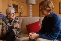 Meryl Streep och Lucas Hedges.