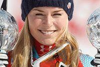 Lindsey Vonn är nu den mest framgångsrika amerikanska åkaren i världscupen med 33 segrar, en mer än Bode Miller.