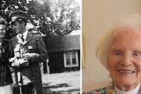 Edith Falhammar minns de fina åren på Stora Essingen. Till vänster står hon med sin älskade Lennart i småländska Tryggarp på 40-talet.