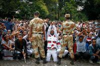2015 inleddes stora, regimkritiska protester i regionen Omoria. De spreds sedan till Amhara. Protesterna anses ha bidragit starkt till regimskiftet 2018. Arkivbild.