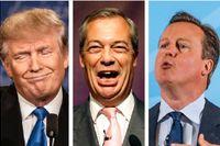 Donald Trump, Nigel Farage och David Cameron.