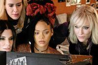 """Sandra Bullock, Sarah Paulson, Rihanna, Cate Blanchett och Awkwafina i """"Ocean's 8"""", som får svensk premiär på onsdagen."""