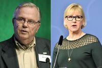FN:s tidigare rättschef Hans Corell och utrikesminister Margot Wallström.