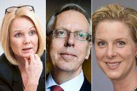 Jennie Nilsson (S), Mats Odell (KD) och Gisela Chand (C).