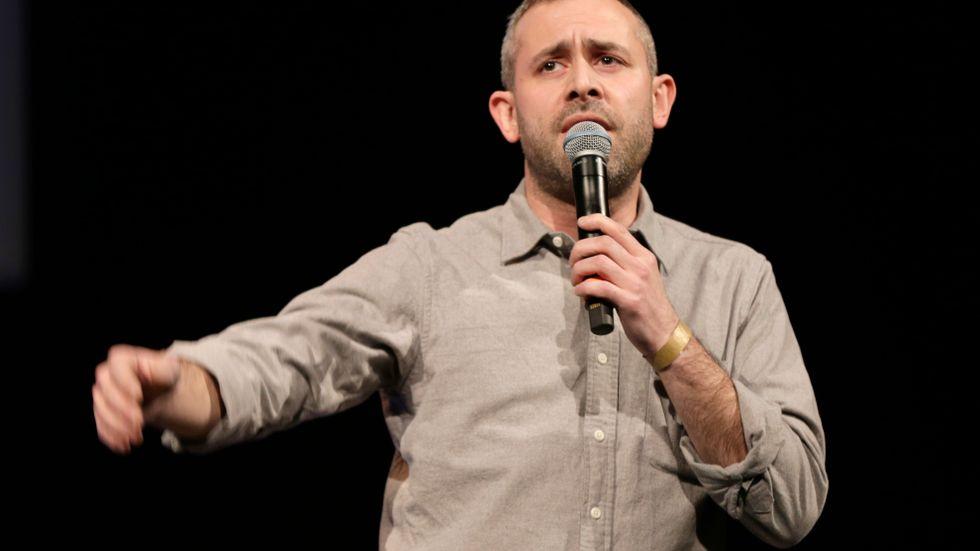 Komikern och skribenten Aron Flam i Norge 2015. Arkivbild.