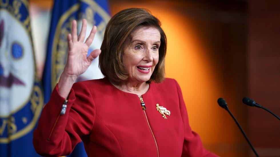 Representanthusets talman Nancy Pelosi vägrar nämna USA:s förre president Donald Trump vid namn. Arkivbild från den 8 september.