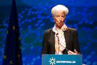 ECB-chefen Christine Lagarde väntas avvakta med penningpolitiska åtstramningar trots att inflationen överstiger ECB:s inflationsmål. Arkivbild