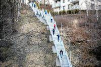 Turt trappa i Oslo har 230 trappsteg och är ett populärt träningsställe.