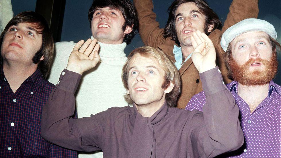 Beach Boys, juni 1968. Fr v: Carl Wilson, Bruce Johnston, Al Jardine, Dennis Wilson och Mike Love.