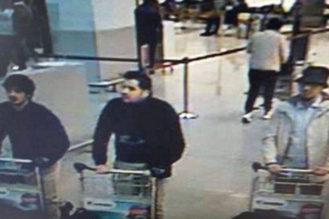 Tre av de terrormisstänkta männen.