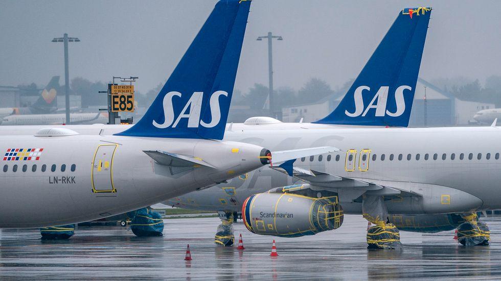 Konsumentverket har ett pågående tillsynsärende mot flygbolaget SAS på grund av sena återbetalningar till resenärer för inställda resor. Arkivbild.