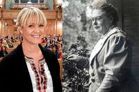 """Kattis Ahlström var programledare för """"Kvinnorna på fröken Frimans tid. Anna Whitlock grundade kvinnokooperationen Svenska Hem och ledde kampen för kvinnlig rösträtt."""