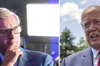 Carl Bildt och Donald Trump.