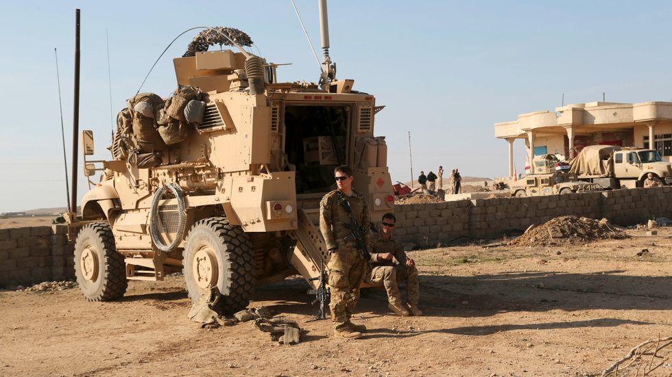 Amerikansk militär i Irak. Arkivbild.