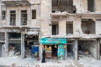 Staden Aleppo förstördes under kriget i Syrien.