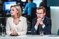 Ebba Busch Thor (KD) och Ulf Kristersson (M). Budgetreservationen från dessa två partier röstades igenom i riksdagen på torsdagen med SD:s stöd.