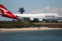 Qantasplan på Sydneys internationella flygplats, just dessa plan var inte inblandade i dne nu aktuella långflygningen.
