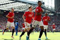 Marcus Rashford jublar efter att ha avgjort för Manchester United hemma mot Leicester.