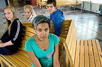 Skolor i Strängnäs slås ihop och lärare avskedas. Frida Jansson, Emma Newton Karlsson, Lilly Tembe och Daniel Scharff på Karinslundsskolan.
