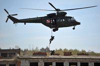 Polska trupper deltar i en Nato-övning i Polen i april i år.